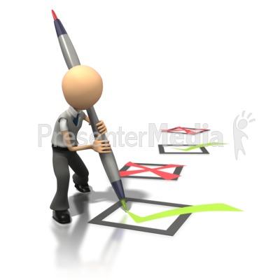 Check Marking  Presentation clipart
