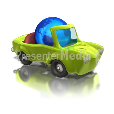 Earth Friendly Car Presentation clipart