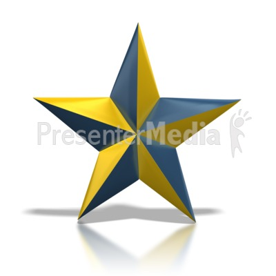Blue and Gold Star Presentation clipart