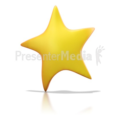 Golden Star Presentation clipart