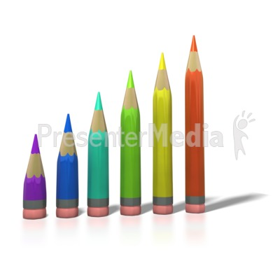 Color Pencil Bar Graph Presentation clipart