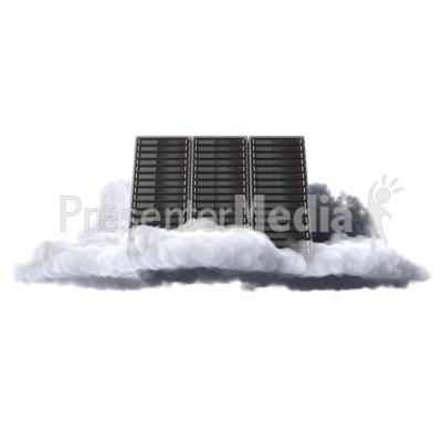 Cloud computer server presentation clipart
