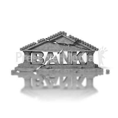Crumbled Bank Presentation clipart