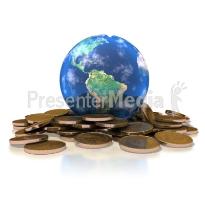 Earth Gold Coins Presentation clipart