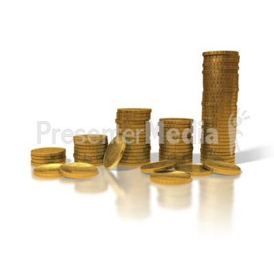 Gold Coin Graph Presentation clipart