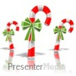 ID# 1573 - Three Candy Canes - Presentation Clipart