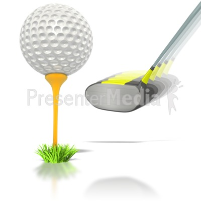 Golf Ball Club Swing PowerPoint Clip Art