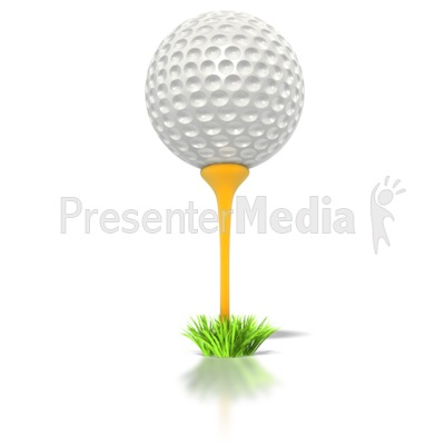 Golf Ball on Tee PowerPoint Clip Art