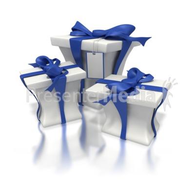 Blue White Presents Presentation clipart