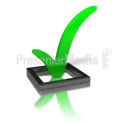 check mark clip art. Green Check Mark In Box