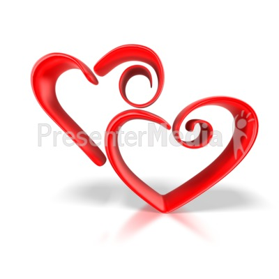 Valentines Hearts on Stylized Hearts   Holiday Seasonal Events   Great Clipart For