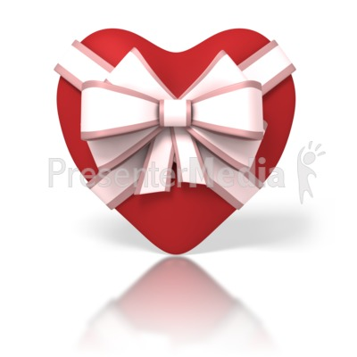Heart With Ribbon Presentation clipart