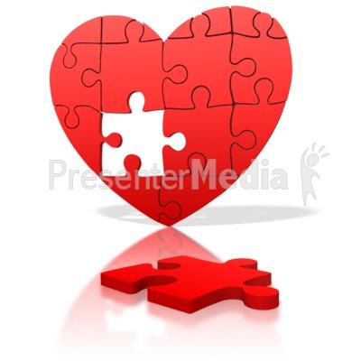 Heart Puzzle Piece Missing Presentation clipart