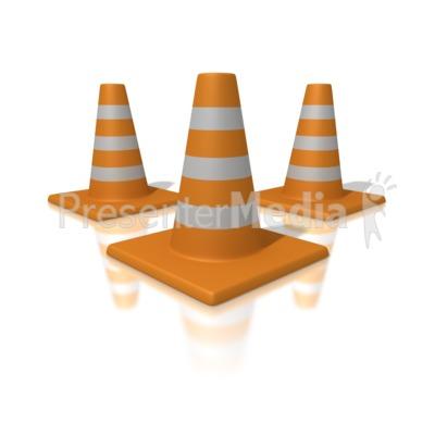Orange Traffic Cones Presentation clipart