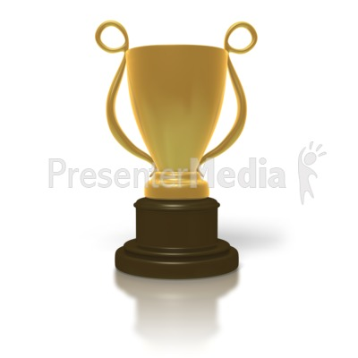 Golden Trophy Cup Presentation clipart