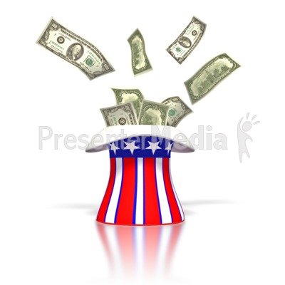 Uncle Sam Money Tax Hat  Presentation clipart