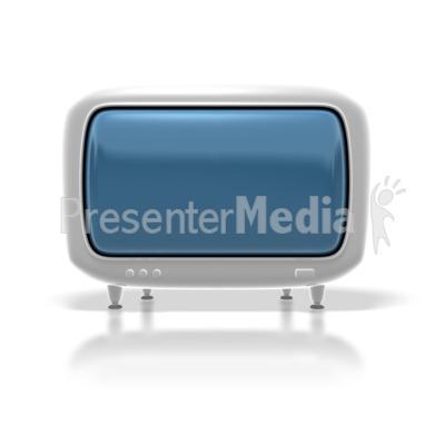 Retro Hdtv Monitor Presentation clipart