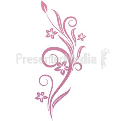 clip art flowers vines. Vines Swirl Pink Flowers