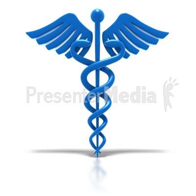 Caduceus Blue Medical Health Symbol Signs And Symbols Great