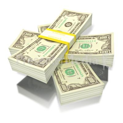 short stack of money Presentation clipart
