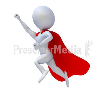 Superhero Flying Presentation clipart