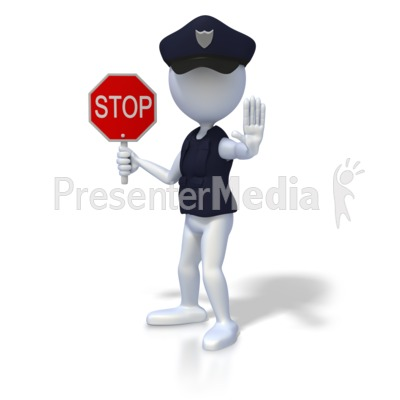 Police Officer Stop Presentation clipart
