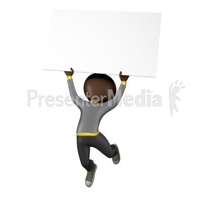 Stick Figure Jump Sign Presentation clipart
