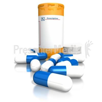 orange medication bottle blue white pill medical and health rh presentermedia com Pill Bottle Outline Clip Art Pill Bottle Clip Art Black and White