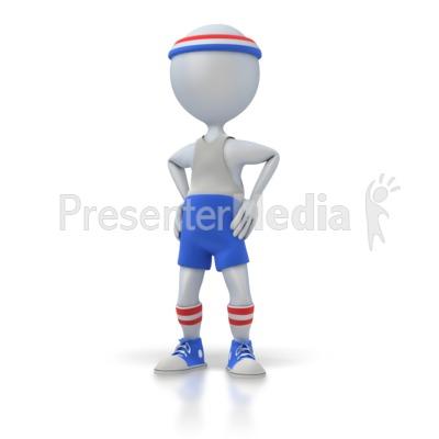 Gym Workout Figure Standing Presentation clipart