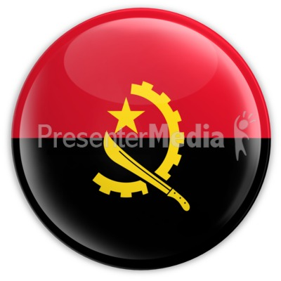 Badge of the Angolan Flag Presentation clipart