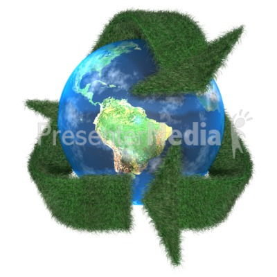 Grass Earth Recycle Symbol Presentation clipart