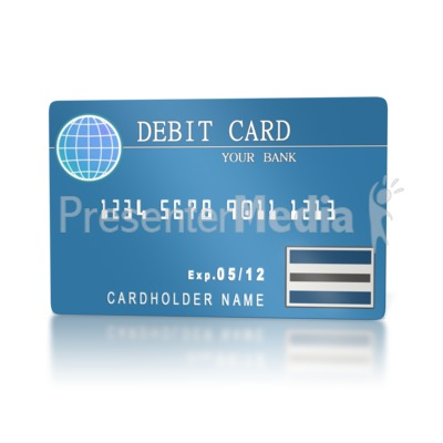 Bank Debit Card  Presentation clipart