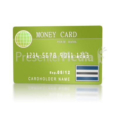 Bank Money Card  Presentation clipart