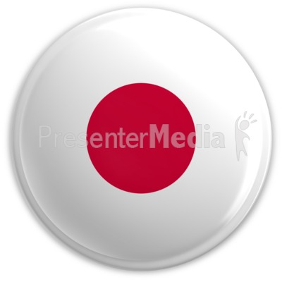 Badge of the Flag of Japan Presentation clipart