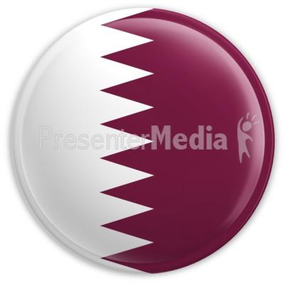 Badge of the flag of qatar signs and symbols great clipart for badge of the flag of qatar powerpoint clip art toneelgroepblik Choice Image
