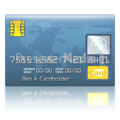 Credit Card Blue World Presentation clipart