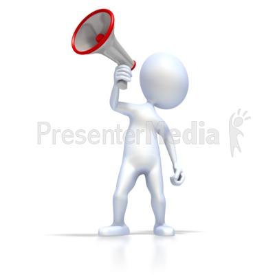 Figure With Megaphone Presentation clipart