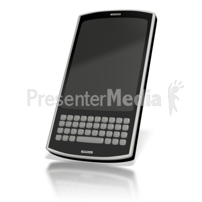 Touch Smart Phone Blank  Presentation clipart