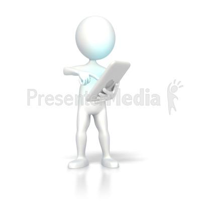 Digital Computer Tablet Operate Presentation clipart