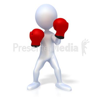 Stick Figure Boxer Presentation clipart