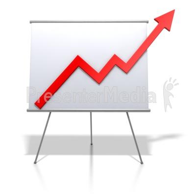 Financial Graph Increase Presentation clipart
