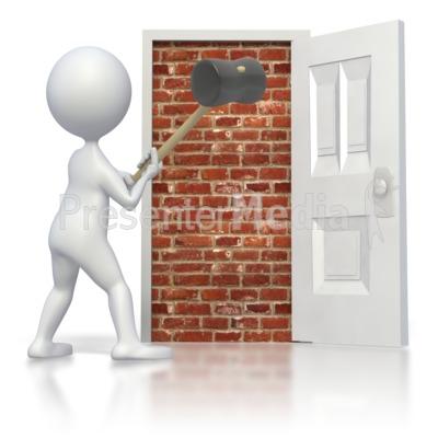 Break Brick Door Presentation clipart
