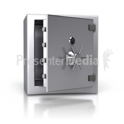 Steel Safe Open Presentation clipart