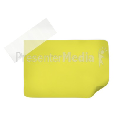 Yellow Note With Tape  Presentation clipart
