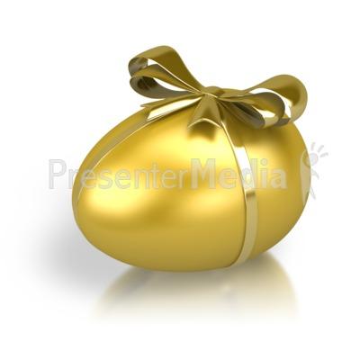 Gold Nest Egg Ribbon Presentation clipart