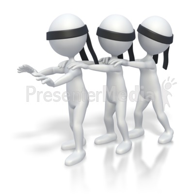 Blind Leading Blind  Presentation clipart