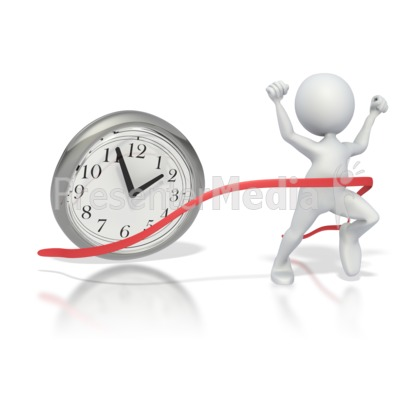 Beating The Clock  Presentation clipart
