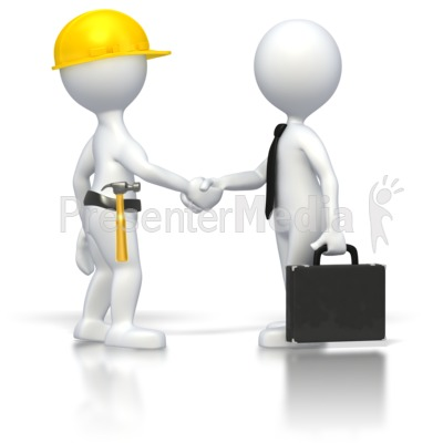 Construction Business Deal  Presentation clipart