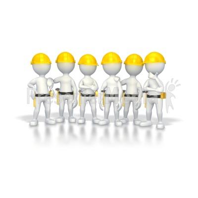Stick Figure Construction Group Presentation clipart