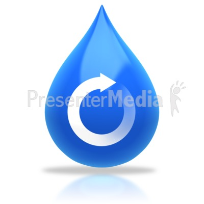 water drop. Water Drop Recycle Arrow